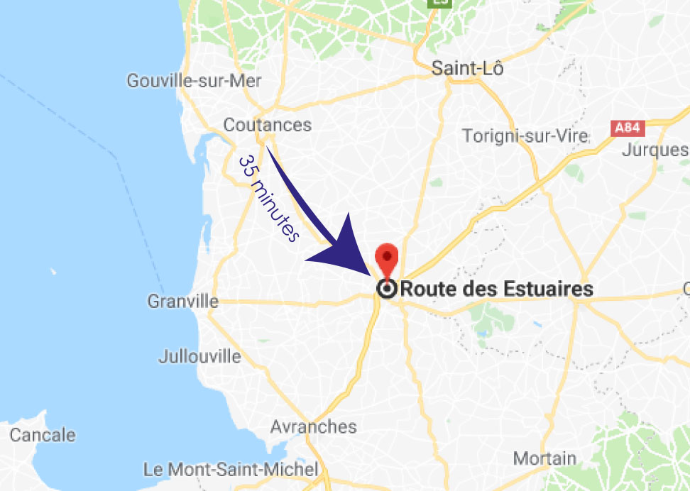 crematorium coutances distance